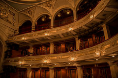 Balconies galleries at National Theater in Belgrade Royalty Free Stock Image