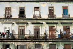 Balconies - Havana, Cuba Royalty Free Stock Photos