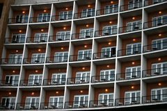 Balconies of a hotel Stock Photos