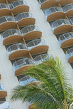 Balconies. Hotel balconies in tropical location Royalty Free Stock Images