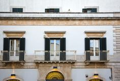 Balconies of a house Royalty Free Stock Photo