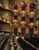 Balconies inside theater Royalty Free Stock Photo