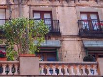 Balconies, La Rambla, Barcelona Stock Photos