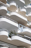 Balconies. The line of the facade. Patterns of balconies Royalty Free Stock Photo