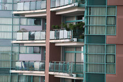 Balconies of luxury condominium Stock Photos
