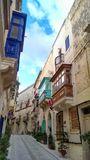 Balconies of Malta Royalty Free Stock Photo