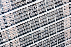 Balconies of modern apartment building. Modern apartment building with balconies royalty free stock photography