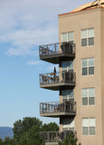 Balconies on modern architecture Apartment Complex Royalty Free Stock Photos
