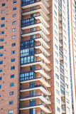 Balconies on Modern Brick High Rise Stock Images