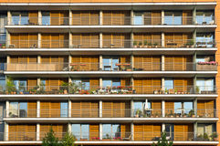 Balconies of a modern building Royalty Free Stock Images