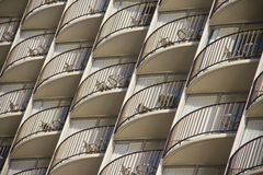 Balconies in modern building Royalty Free Stock Image