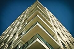 Balconies on modern building Royalty Free Stock Photos