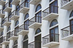 Balconies of a modern building Stock Photo