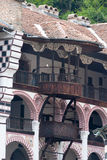 Balconies in the monastic cells in the Rila Monastery, Bulgaria Stock Images