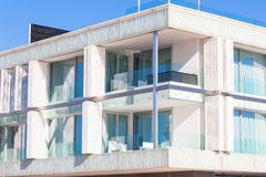 Balconies in a New Glass Wall Apartment House Royalty Free Stock Photos