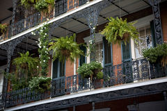 Balconies in New Orleans stock photos