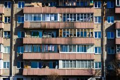 Balconies Of A Post-Soviet House Stock Photos