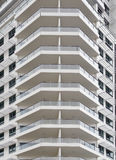 balconies on an office building Stock Photos
