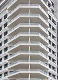 balconies on an office building Stock Photos