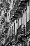 Balconies on old building royalty free stock photos