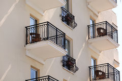 Balconies of old building Stock Photography