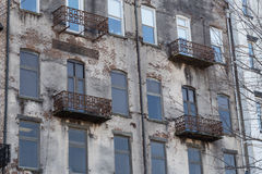 Balconies on Old Building Royalty Free Stock Images