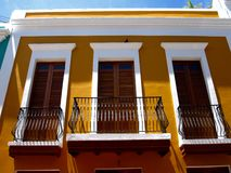 Balconies in Old San Juan, Puerto Rico Stock Photos