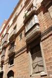 Balconies. Open up onto the narrow streets of Cadiz, Spain Stock Photo