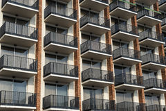 Balconies outside hotel building. Close-up balconies outside hotel building Royalty Free Stock Photo