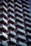 Balconies pattern Royalty Free Stock Images