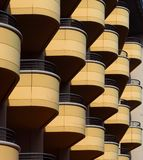 Balconies pattern on a modern building facade Stock Photography