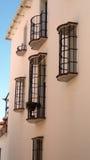 Balconies in pink Stock Photo