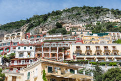Balconies in Positano Resorts Stock Images