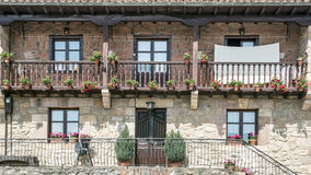 Balconies with potted plants Royalty Free Stock Photography