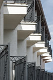 Balconies in a row Royalty Free Stock Image