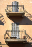 Balconies in Saint Tropez. France Stock Image