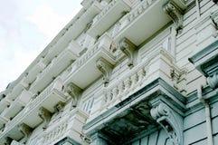 Balconies in Santander Stock Images