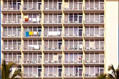 Balconies of scyscrapers Stock Image