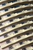 Balconies on tall building Stock Photo