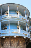 Balconies of Tbilisi under bright sunshine Royalty Free Stock Image
