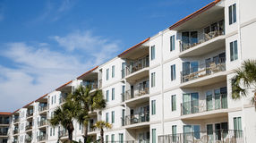 Balconies on Tropical Coastal Condos Royalty Free Stock Images