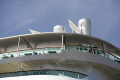 Balconies on a vessel Stock Photo