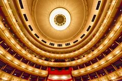 Balconies of Vienna Opera House Royalty Free Stock Images