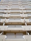 Balconies with white balustrades Stock Image