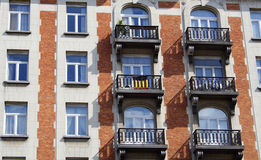 Balconies and windows Royalty Free Stock Photos