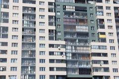 Balconies, windows, floors. Royalty Free Stock Photography
