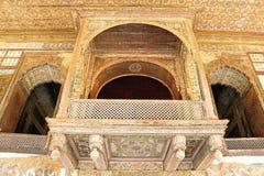 Balcons décorés au palais d'été de Sultan Tipu photo libre de droits