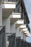 Balcons dans une rangée Image libre de droits