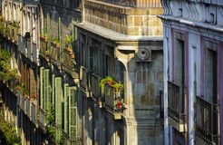 Balcons de Barcelone Photo libre de droits