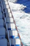 Balcons de bateau de croisière Photos stock